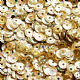 Value Pack 50g 4mm Hologram Gold Semi-cupped Sequins.